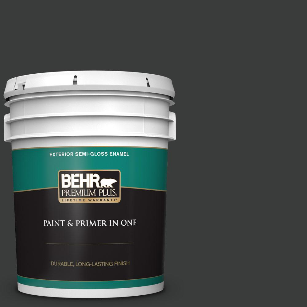 5 gal. #750F-7 Deep Space Semi-Gloss Enamel Exterior Paint and Primer in One