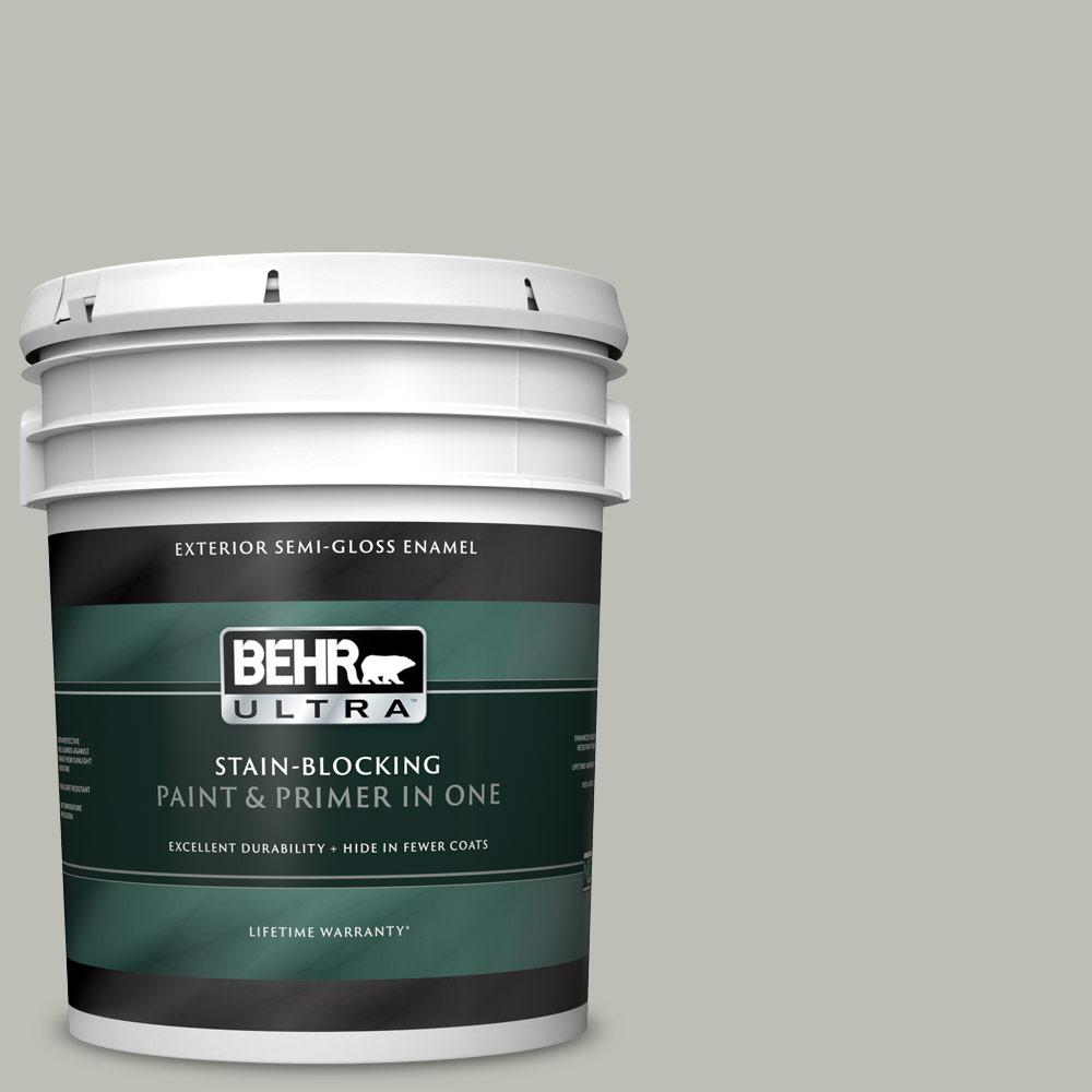 5 gal. #N370-3 Light Year Semi-Gloss Enamel Exterior Paint and Primer in One