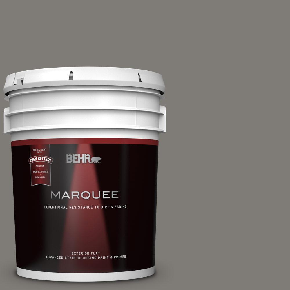 5 gal. #PPU24-21 Greyhound Matte Exterior Paint and Primer in One