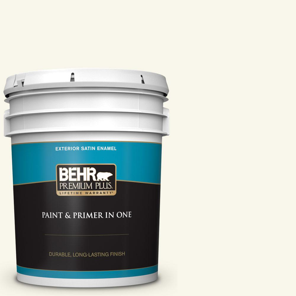 5 gal. #PWN-30 Clear Moon Satin Enamel Exterior Paint and Primer in One