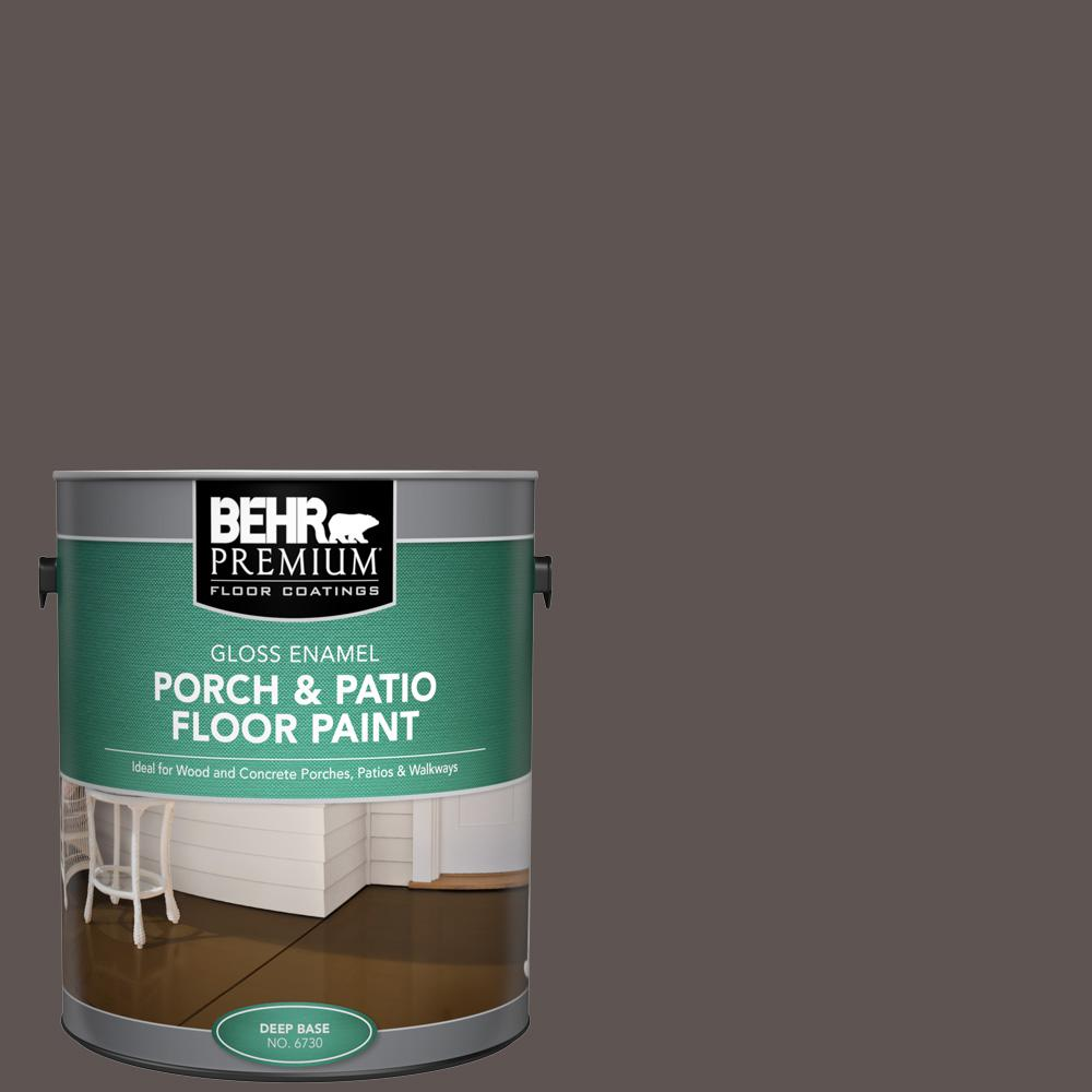 1 gal. #N140-7 Timber Brown Gloss Enamel Interior/Exterior Porch and Patio Floor Paint