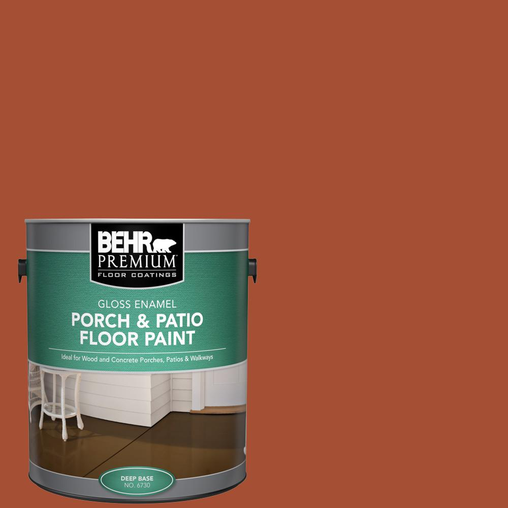 1 gal. #S-H-210 New Penny Gloss Enamel Interior/Exterior Porch and Patio Floor Paint