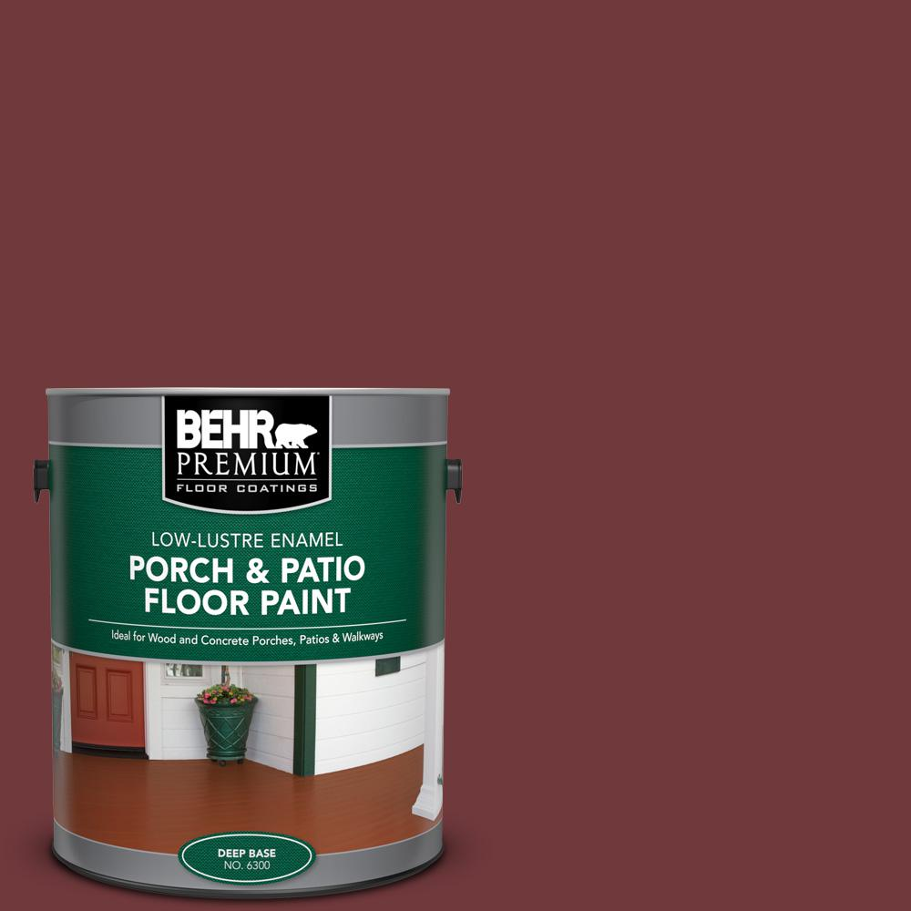 1 gal. #160F-7 Burnished Mahogany Low-Lustre Enamel Interior/Exterior Porch and Patio Floor Paint
