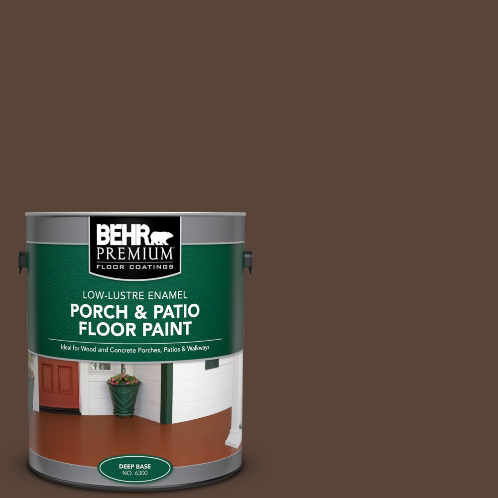 1 gal. #AE-18 Nomad Brown Low-Lustre Enamel Interior/Exterior Porch and Patio Floor Paint