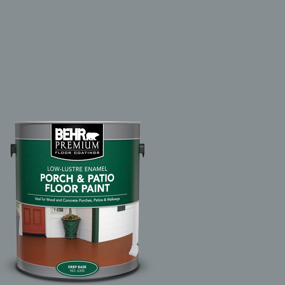 1 gal. #PFC-47 Raw Steel Low-Lustre Enamel Interior/Exterior Porch and Patio Floor Paint