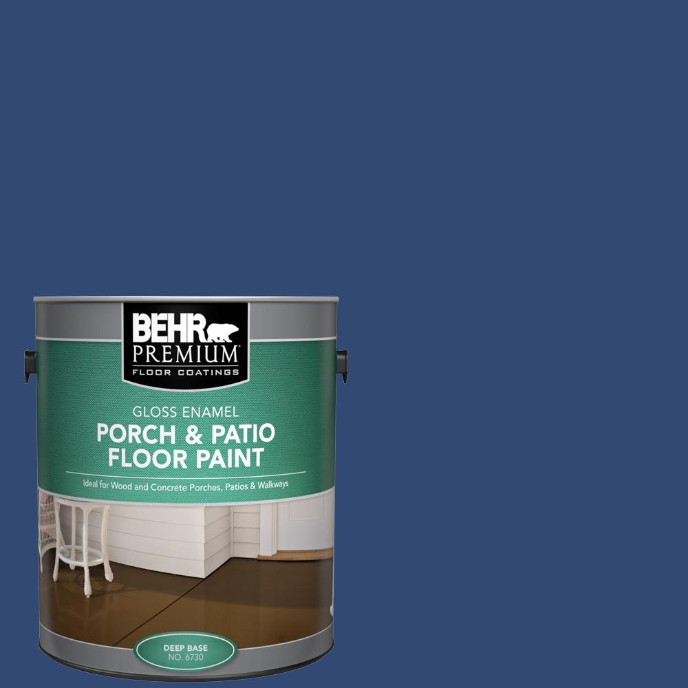 1 gal. #S-H-580 Navy Blue Gloss Enamel Interior/Exterior Porch and Patio Floor Paint