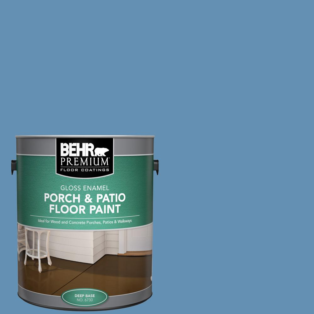 1 gal. #M510-4 Brittany Blue Gloss Enamel Interior/Exterior Porch and Patio Floor Paint
