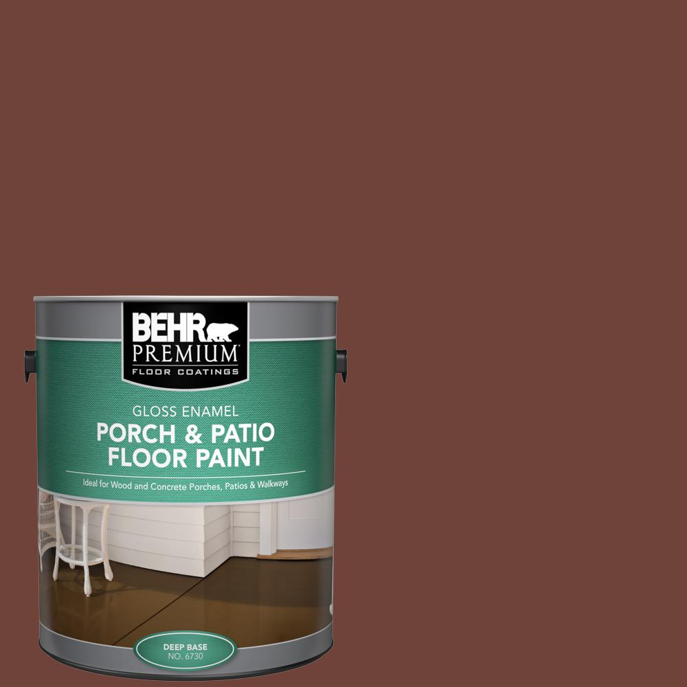 1 gal. #N160-7 Brown Velvet Gloss Enamel Interior/Exterior Porch and Patio Floor Paint