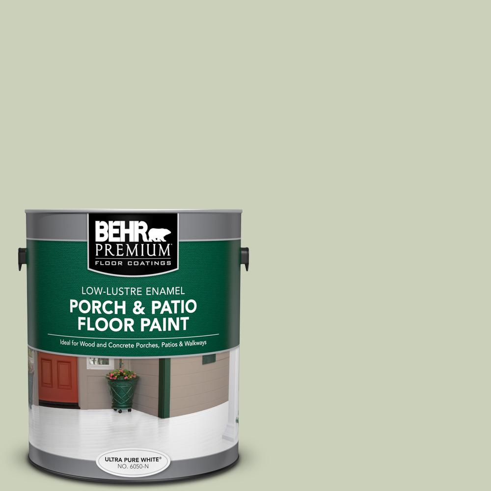 1 gal. #PPU10-09 Chinese Jade Low-Lustre Enamel Interior/Exterior Porch and Patio Floor Paint
