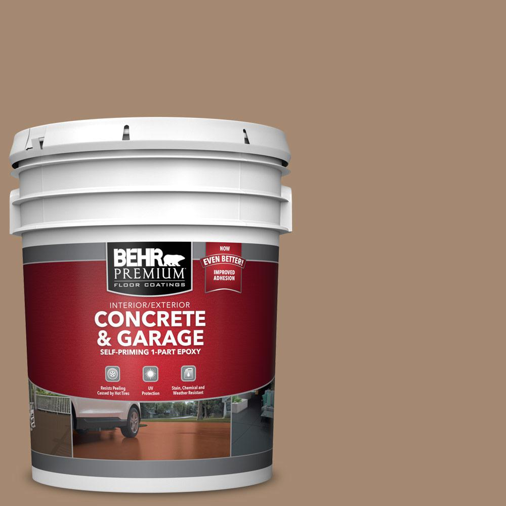 5 gal. #N260-5 Distant Land 1-Part Epoxy Satin Interior/Exterior Concrete and Garage Floor Paint