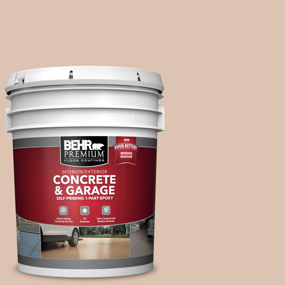 5 gal. #N250-2A Bali Sand 1-Part Epoxy Satin Interior/Exterior Concrete and Garage Floor Paint