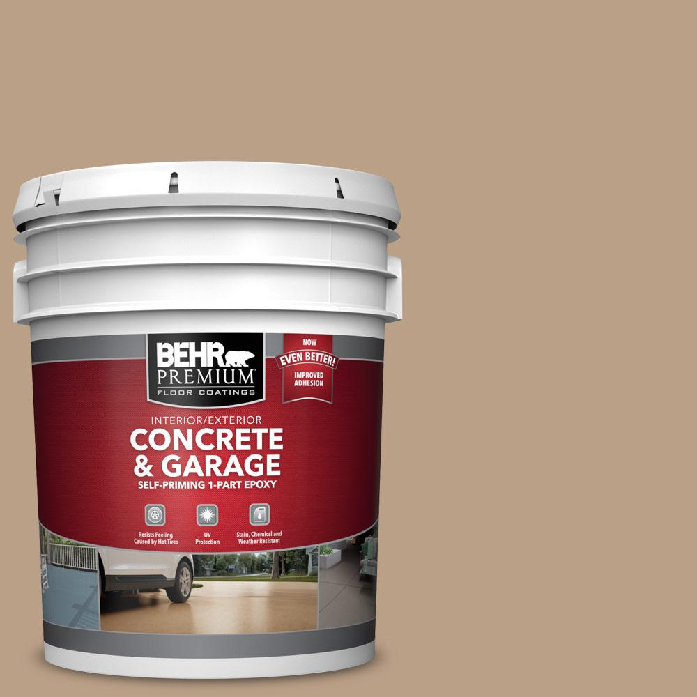 5 gal. #N240-4 Sierra 1-Part Epoxy Satin Interior/Exterior Concrete and Garage Floor Paint
