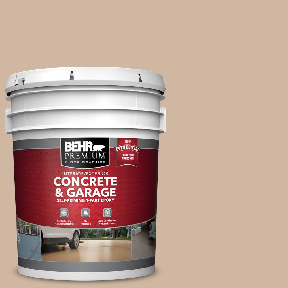 5 gal. #N240-3 Sonoran Desert 1-Part Epoxy Satin Interior/Exterior Concrete and Garage Floor Paint