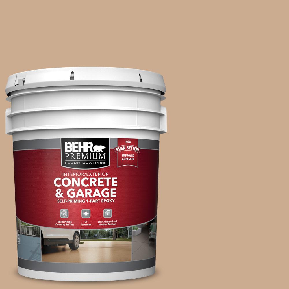 5 gal. #N250-3 Pottery Wheel 1-Part Epoxy Satin Interior/Exterior Concrete and Garage Floor Paint