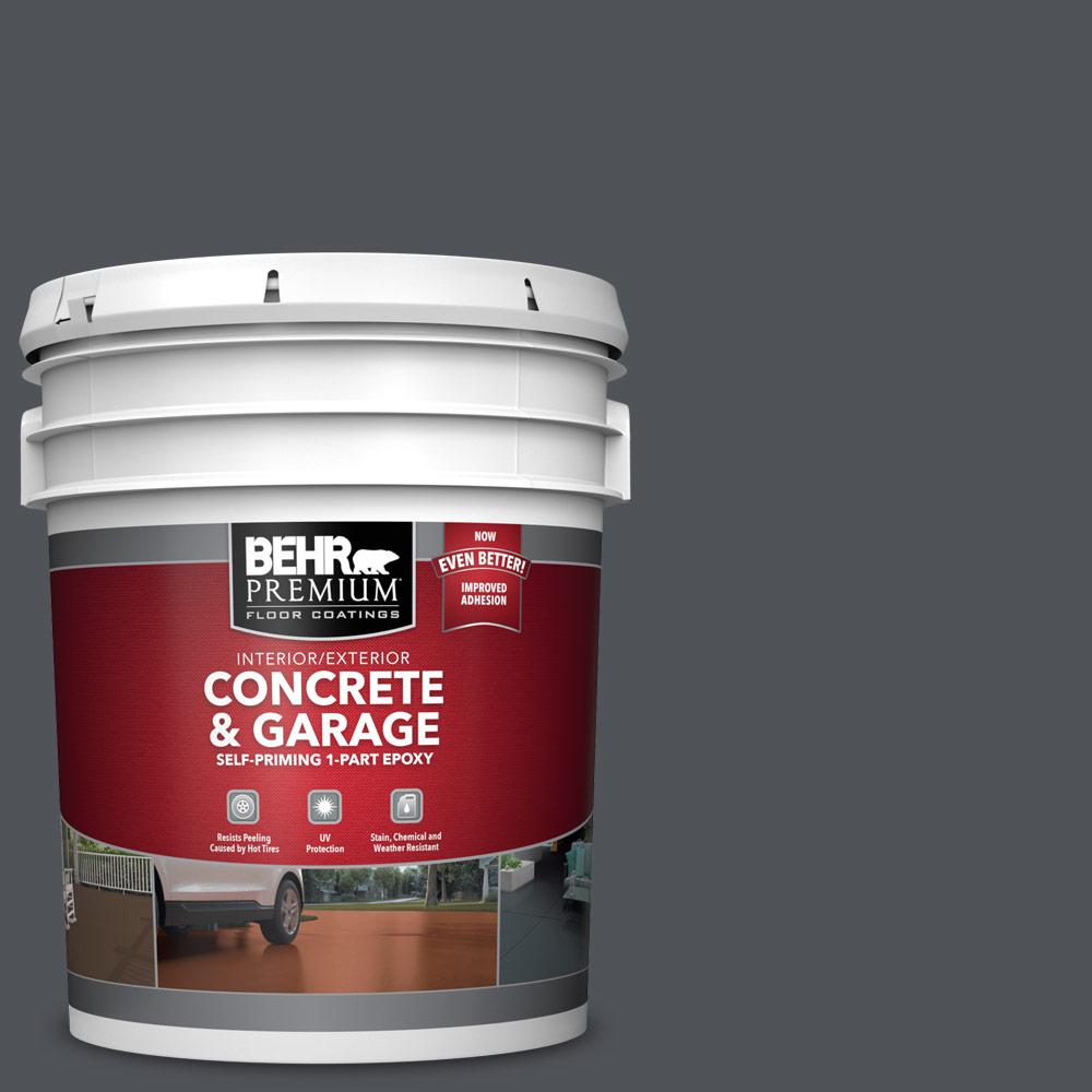 5 gal. #N510-6 Orion Gray 1-Part Epoxy Satin Interior/Exterior Concrete and Garage Floor Paint