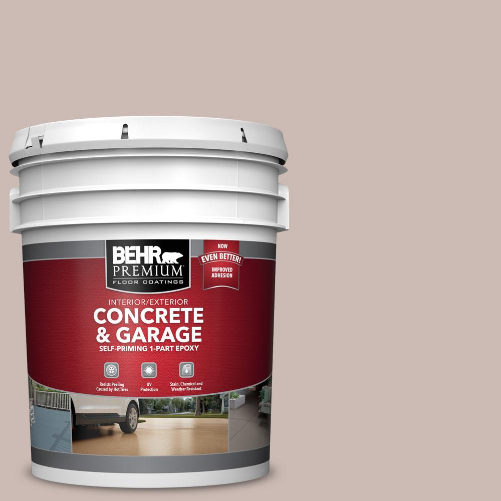 5 gal. #N170-3 Gray Ashlar 1-Part Epoxy Satin Interior/Exterior Concrete and Garage Floor Paint